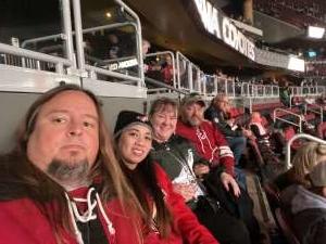 Gregory attended Arizona Coyotes vs. Toronto Maple Leafs - NHL on Nov 21st 2019 via VetTix