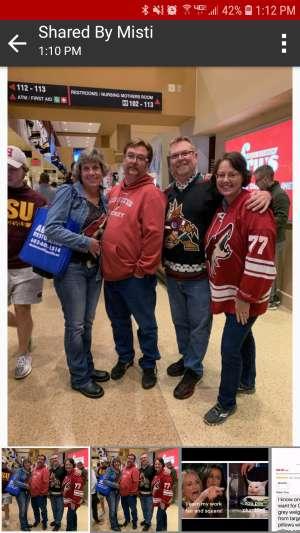 Richard attended Arizona Coyotes vs. Toronto Maple Leafs - NHL on Nov 21st 2019 via VetTix