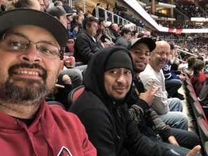 Jake attended Arizona Coyotes vs. Toronto Maple Leafs - NHL on Nov 21st 2019 via VetTix