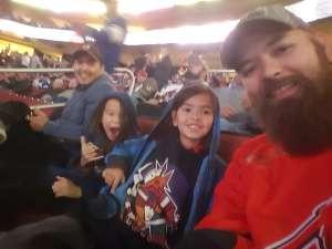Kristoffer attended Arizona Coyotes vs. Toronto Maple Leafs - NHL on Nov 21st 2019 via VetTix