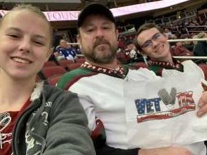 James attended Arizona Coyotes vs. Toronto Maple Leafs - NHL on Nov 21st 2019 via VetTix