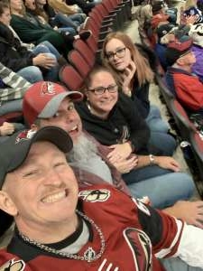 Nichole attended Arizona Coyotes vs. Toronto Maple Leafs - NHL on Nov 21st 2019 via VetTix