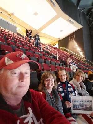Valorie attended Arizona Coyotes vs. Toronto Maple Leafs - NHL on Nov 21st 2019 via VetTix