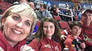 Mark attended Arizona Coyotes vs. Toronto Maple Leafs - NHL on Nov 21st 2019 via VetTix