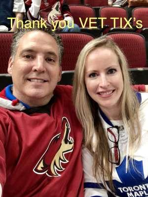 Joseph attended Arizona Coyotes vs. Toronto Maple Leafs - NHL on Nov 21st 2019 via VetTix