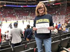 Hollee attended Arizona Coyotes vs. Toronto Maple Leafs - NHL on Nov 21st 2019 via VetTix