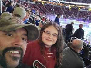 Nicholas attended Arizona Coyotes vs. Toronto Maple Leafs - NHL on Nov 21st 2019 via VetTix