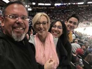 Kelly attended Arizona Coyotes vs. Toronto Maple Leafs - NHL on Nov 21st 2019 via VetTix