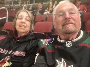Gerald attended Arizona Coyotes vs. Toronto Maple Leafs - NHL on Nov 21st 2019 via VetTix