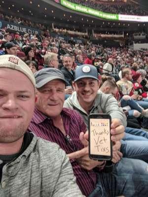 Benjamin attended Arizona Coyotes vs. Toronto Maple Leafs - NHL on Nov 21st 2019 via VetTix