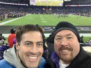 Pat attended Baltimore Ravens vs. New York Jets - NFL on Dec 12th 2019 via VetTix