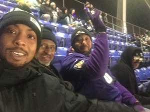 Joseph attended Baltimore Ravens vs. New York Jets - NFL on Dec 12th 2019 via VetTix