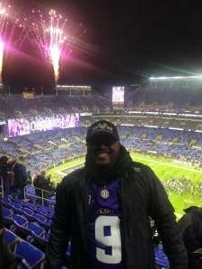 Derrick attended Baltimore Ravens vs. New York Jets - NFL on Dec 12th 2019 via VetTix