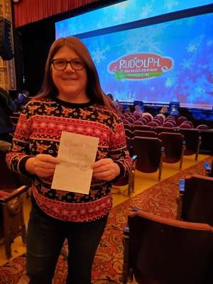 Jeffery attended Rudolph the Red-nosed Reindeer the Musical (touring) on Dec 1st 2019 via VetTix