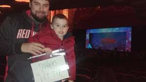 Edward attended Rudolph the Red-nosed Reindeer the Musical (touring) on Dec 1st 2019 via VetTix