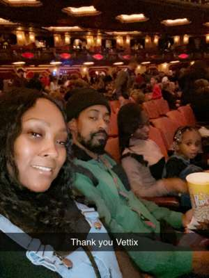 TERESA attended Rudolph the Red-nosed Reindeer the Musical (touring) on Dec 1st 2019 via VetTix