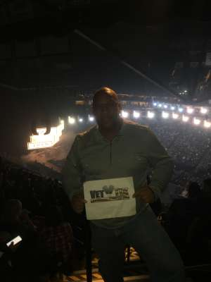 Cecil attended Eric Church: Double Down Tour on Nov 22nd 2019 via VetTix