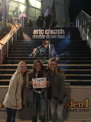 Andrew attended Eric Church: Double Down Tour on Nov 22nd 2019 via VetTix