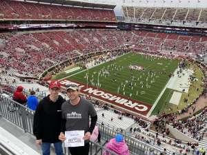 Trevor attended Alabama Crimson Tide vs. Western Carolina - NCAA Football on Nov 23rd 2019 via VetTix