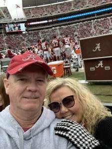 James attended Alabama Crimson Tide vs. Western Carolina - NCAA Football on Nov 23rd 2019 via VetTix