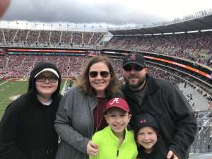 Nicole attended Alabama Crimson Tide vs. Western Carolina - NCAA Football on Nov 23rd 2019 via VetTix