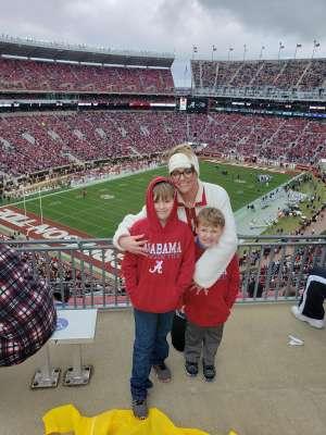 Chasity attended Alabama Crimson Tide vs. Western Carolina - NCAA Football on Nov 23rd 2019 via VetTix