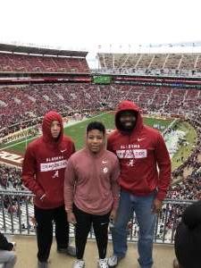 Barry attended Alabama Crimson Tide vs. Western Carolina - NCAA Football on Nov 23rd 2019 via VetTix