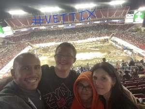 Christopher attended Monster Energy Supercross on Feb 15th 2020 via VetTix