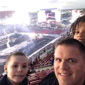 James attended Monster Energy Supercross on Feb 15th 2020 via VetTix