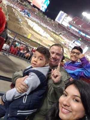 Fernando attended Monster Energy Supercross on Feb 15th 2020 via VetTix