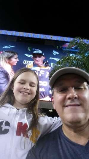 Tony attended Monster Energy Supercross on Feb 15th 2020 via VetTix