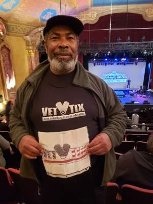 David attended Shadows of the 60's - A Tribute to Motown Super Groups on Dec 31st 2019 via VetTix