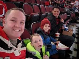 Jeremy attended New Jersey Devils vs. Vegas Golden Knights NHL on Dec 3rd 2019 via VetTix