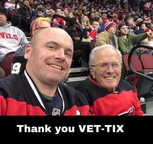 Wes attended New Jersey Devils vs. Vegas Golden Knights NHL on Dec 3rd 2019 via VetTix