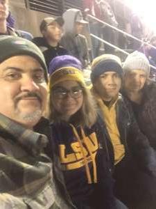 Ricardo attended LSU Tigers vs. University of Arkansas Razorbacks - NCAA Football - 11/23/2019 Etix on Nov 23rd 2019 via VetTix