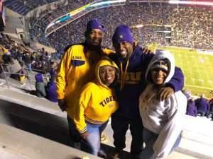 Billy attended LSU Tigers vs. University of Arkansas Razorbacks - NCAA Football - 11/23/2019 Etix on Nov 23rd 2019 via VetTix