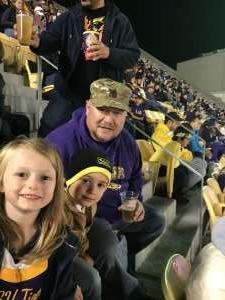 David attended LSU Tigers vs. University of Arkansas Razorbacks - NCAA Football - 11/23/2019 Etix on Nov 23rd 2019 via VetTix