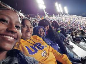 Naomi attended LSU Tigers vs. University of Arkansas Razorbacks - NCAA Football - 11/23/2019 Etix on Nov 23rd 2019 via VetTix