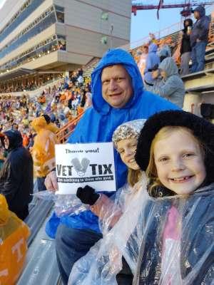 Phillip attended University of Tennessee Vols vs. Vanderbilt - NCAA Football - Read Notes Before Claiming on Nov 30th 2019 via VetTix