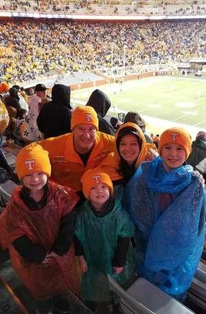 adam attended University of Tennessee Vols vs. Vanderbilt - NCAA Football - Read Notes Before Claiming on Nov 30th 2019 via VetTix