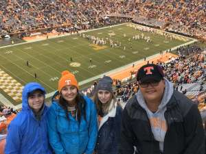 JESSICA attended University of Tennessee Vols vs. Vanderbilt - NCAA Football - Read Notes Before Claiming on Nov 30th 2019 via VetTix
