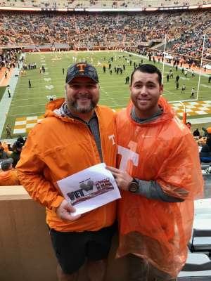 joe attended University of Tennessee Vols vs. Vanderbilt - NCAA Football - Read Notes Before Claiming on Nov 30th 2019 via VetTix