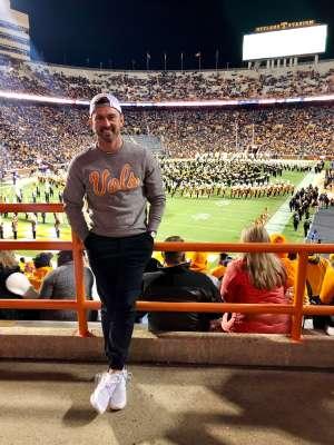 Rodney attended University of Tennessee Vols vs. Vanderbilt - NCAA Football - Read Notes Before Claiming on Nov 30th 2019 via VetTix