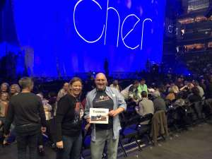 Andrew attended Cher: Here We Go Again Tour on Dec 10th 2019 via VetTix