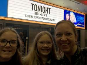 Stephanie attended Cher: Here We Go Again Tour on Dec 10th 2019 via VetTix