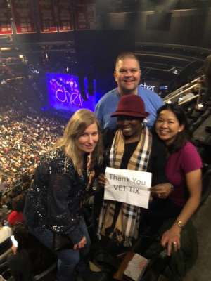 Judy attended Cher: Here We Go Again Tour on Dec 10th 2019 via VetTix