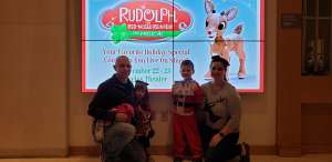 Justin attended RUDOLPH THE RED-NOSED REINDEER - The Musical Saturday on Nov 23rd 2019 via VetTix
