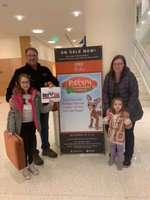 Mike attended RUDOLPH THE RED-NOSED REINDEER - The Musical Saturday on Nov 23rd 2019 via VetTix