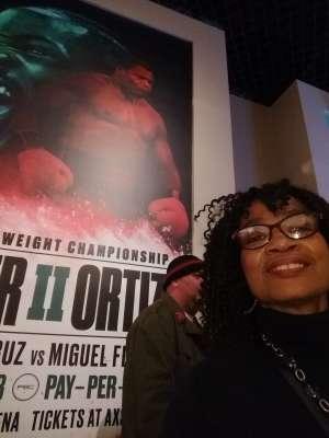 Dee attended Premier Boxing Champions: Wilder vs. Ortiz II on Nov 23rd 2019 via VetTix