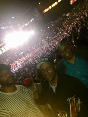 Clinton attended Premier Boxing Champions: Wilder vs. Ortiz II on Nov 23rd 2019 via VetTix
